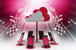 Concepts cloud computing devicesの写真素材 [FYI00651483]