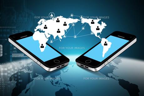 Mobile communication conceptの写真素材 [FYI00651504]