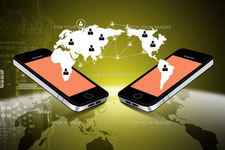 Mobile communication conceptの写真素材 [FYI00651508]