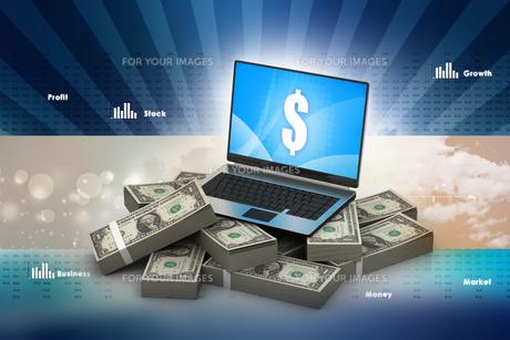 Online money conceptの写真素材 [FYI00651513]