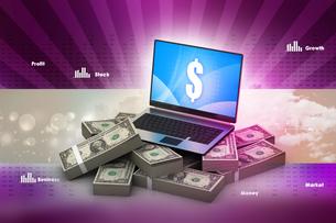 Online money conceptの写真素材 [FYI00651516]