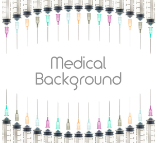 Five Color Medical Background on Curve Line Top and Bottomの素材 [FYI00651611]