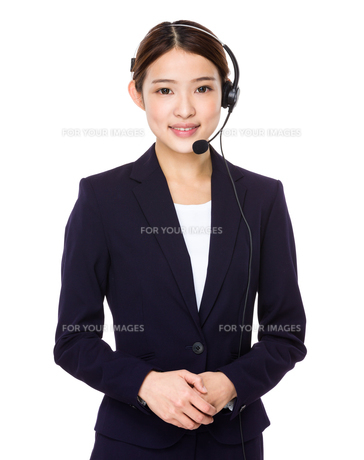 Beautiful business operatorの写真素材 [FYI00651711]