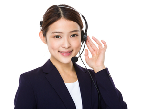 Beautiful female customer service operatorの写真素材 [FYI00651715]