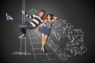 Pole dance.の写真素材 [FYI00651814]