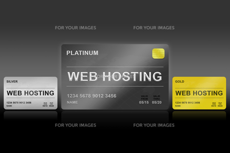 web hosting platinum cardの写真素材 [FYI00651958]