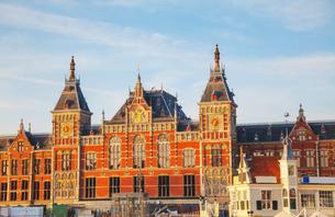 Amsterdam Centraal railway stationの写真素材 [FYI00652029]