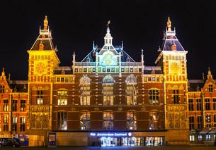 Amsterdam Centraal railway stationの写真素材 [FYI00652039]