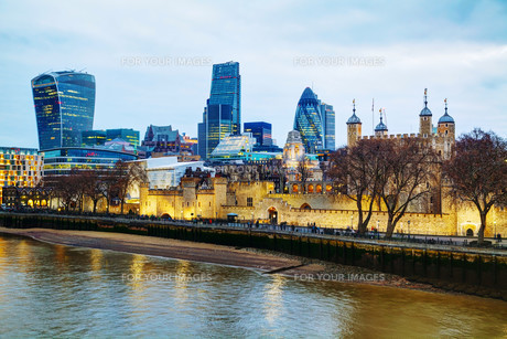 Financial district of the City of Londonの写真素材 [FYI00652090]