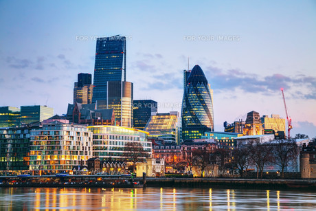 Financial district of the City of Londonの写真素材 [FYI00652101]