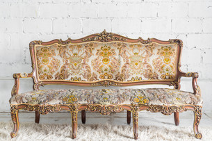 Vintage Sofa bedの写真素材 [FYI00652199]