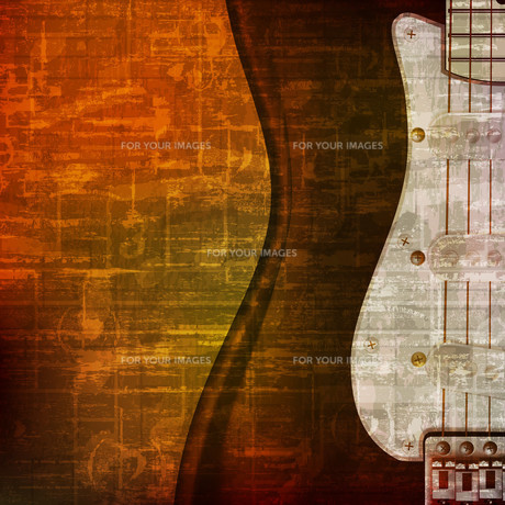 abstract grunge background with electric guitarの写真素材 [FYI00652237]