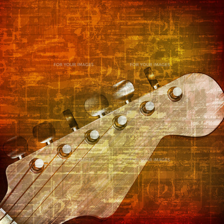 abstract grunge background with electric guitarの写真素材 [FYI00652238]