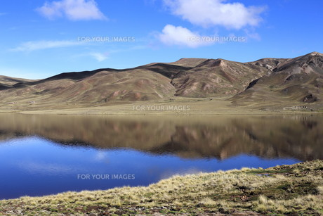 andean lagoon in boliviaの素材 [FYI00652382]