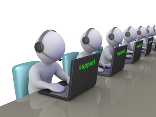 Operators at support call centerの写真素材 [FYI00652458]