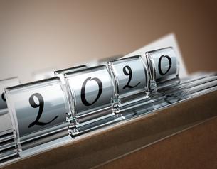2020, Two Thousand Twentyの写真素材 [FYI00652530]
