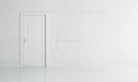 white brick wall and door with blank spaceの素材 [FYI00652759]