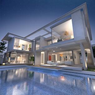 Dream designer villaの写真素材 [FYI00652821]