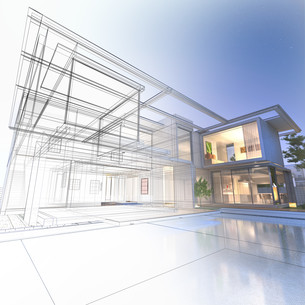 Wireframe mansionの写真素材 [FYI00652830]