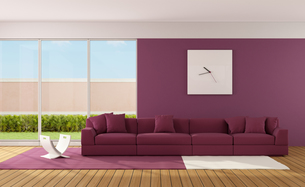 Minimalist living roomの写真素材 [FYI00653095]