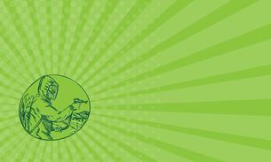 Business card Herbicide Pesticide Control Exterminator Spraying Etchingの写真素材 [FYI00653222]
