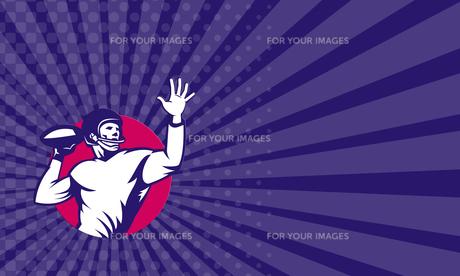 Business card American Quarterback Football Player Passの写真素材 [FYI00653233]