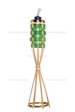 Bamboo torch oil lampの写真素材 [FYI00653271]