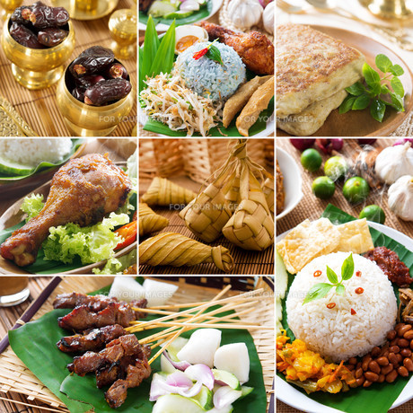 Collage delicious ramadan foodの写真素材 [FYI00653280]