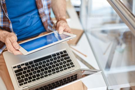 Gadgets in businessの写真素材 [FYI00653574]