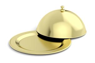 Gold restaurant clocheの写真素材 [FYI00653767]