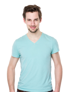Caucasian handsome manの写真素材 [FYI00653774]