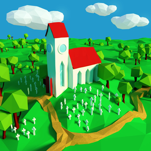 church and cemeteryの写真素材 [FYI00653973]