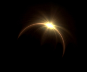 Solar eclipse ring flareの写真素材 [FYI00654381]