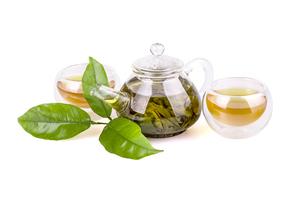 Green teaの写真素材 [FYI00654575]