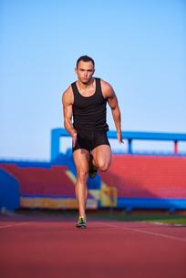 Athletic man startの素材 [FYI00655132]