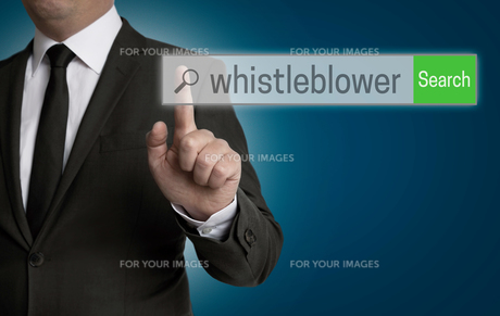 whistleblower internet browser is served by businessmanの写真素材 [FYI00655286]