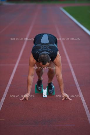 Athletic man startの素材 [FYI00656216]