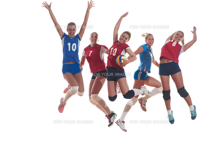 volleyball  woman groupの写真素材 [FYI00656283]