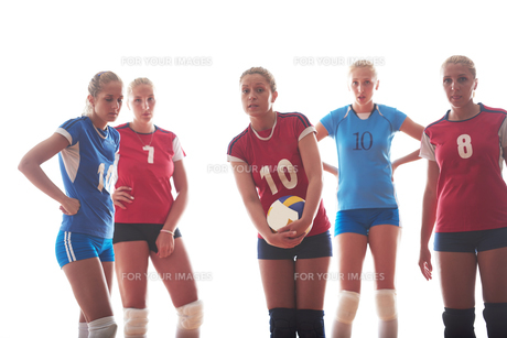 volleyball  woman groupの写真素材 [FYI00656285]