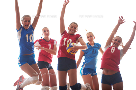 volleyball  woman groupの写真素材 [FYI00656286]