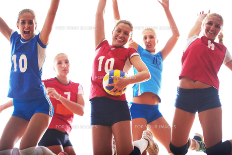 volleyball  woman groupの写真素材 [FYI00656291]