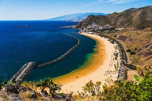 Beach Las Teresitas in Tenerife Canary, Spainの写真素材 [FYI00656499]