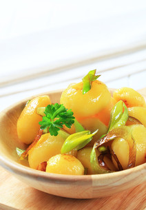 Potatoes with leekの写真素材 [FYI00656556]