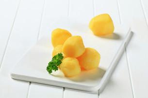 Cooked potatoesの写真素材 [FYI00656571]