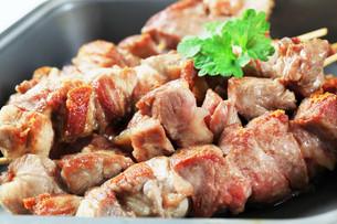 Pork skewersの写真素材 [FYI00656586]