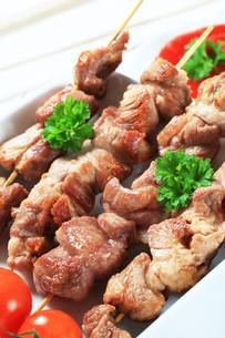 Pork skewersの写真素材 [FYI00656587]