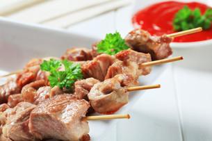 Pork skewersの写真素材 [FYI00656590]