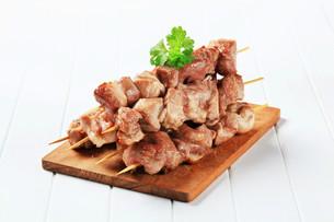 Pork skewersの写真素材 [FYI00656591]