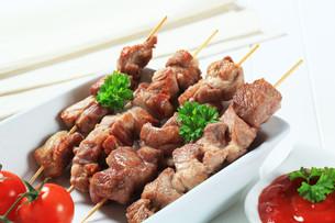 Pork skewersの写真素材 [FYI00656594]