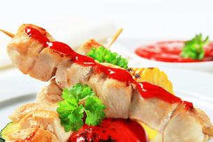 Chicken skewersの写真素材 [FYI00656596]